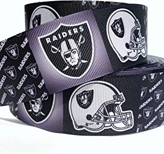 oakland raiders grosgrain ribbon