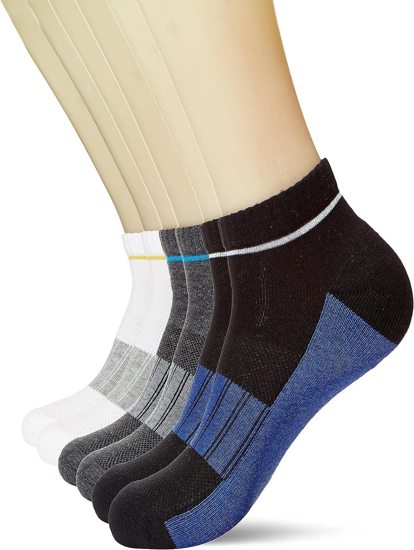 KOSY KOMFORT Mens Cotton 6Pack Low Cut Ankle Socks Athletic Sports Socks FIT 610