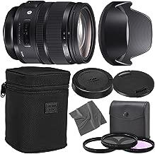Sigma24-70mm f/2.8 DG OS HSM Art Lens for Canon EF with AOM Starter Kit, Sigma Case, Hood, Ultraviolet Filter (UV) Polarizing Filter (CPL) Fluorescent Daylight Filter (FL-D) - International Version