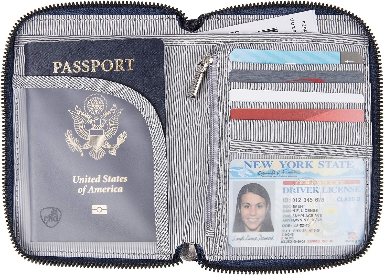 Onyx Travelon Passport Zip Wallet