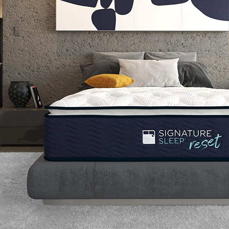 Signature Sleep Reset 12 Nanobionic Pillow Top Hybrid Mattress Full