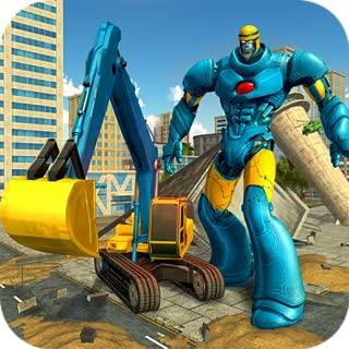 Excavator Robot Transform City Rescue