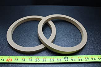 2 MDF Speaker Ring Spacer 8 INCH Wood 3/4 Thick Fiberglass Box ENCLOSE RING-8R