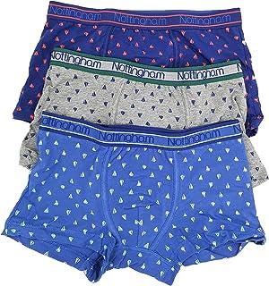 Realizzati con 95/% Cotone e 5/% Elastan vestibilit/à e Comfort Superiore NOTTINGHAM 6 Boxer Uomo Intimo Cotone Linea Underwear Colore Assortito Aderenza
