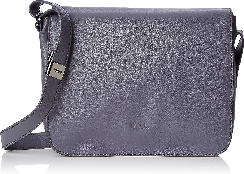 BREE Collection Lady Top 12, Excalibur, Ladies' Han. S19, Women's CrossBody Bag, Grey (Excalibur), 8x20x25 cm (B x H T)