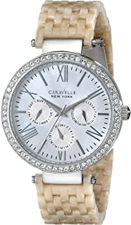 Caravelle New York Women's 43N102 Crystal-Accented Stainless Steel Watch