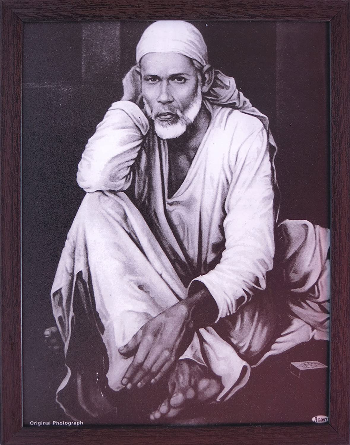 Handicraft Store Sai Baba Poster Painting Photo Picture with Frame