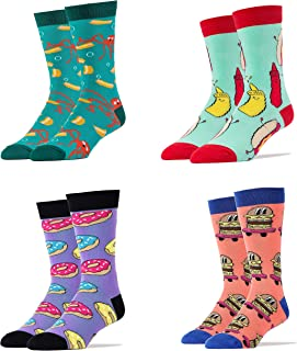 Men's Casual Dress Socks, Funny Socks, Cool Socks, Office Colorful Crew Socks