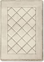 MICRODRY ExtraThick SoftLux Charcoal Infused Diamond Embroidered Memory Foam Bath Mat with GripTex Skid Resistant Base (1...