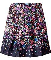 Oscar de la Renta Childrenswear Chine Garden Mikado Pleat Skirt (Toddler/Little Kids/Big Kids)