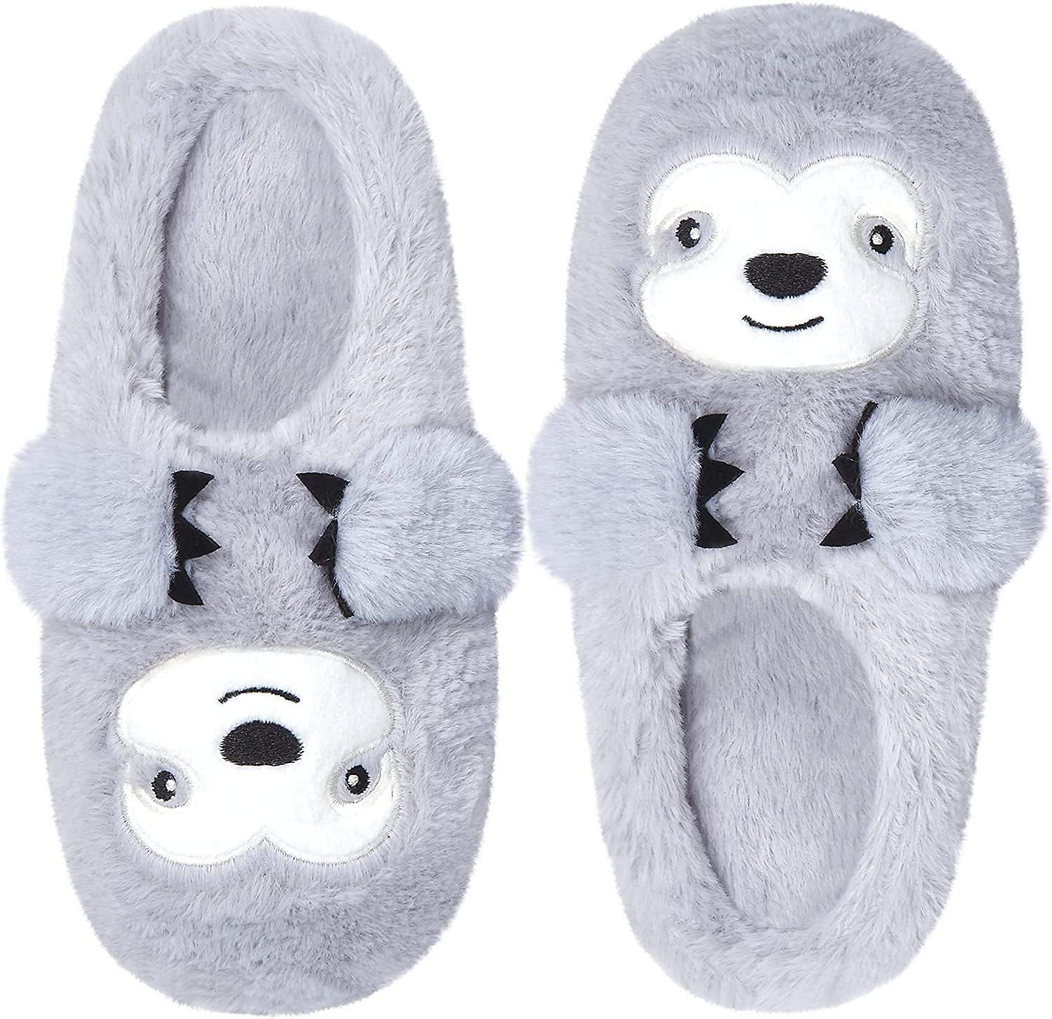 Cozy Memory Unique Cute Fluffy Plush Animal Bradypod Womens Slipper Memory Foam Insole Funny Adult Slip On Non-Skid Indoor Outdoor House Shoes Easter Christmas Slippers Gifts