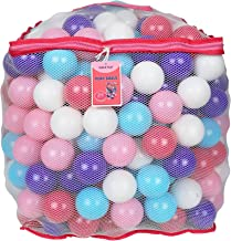Click N' Play Plastic Ball Phthalate Free Bpa Free Crush Proof Pit Balls 5 Pretty Feminine Colors in Reusable Mesh Storage Bag with Zipper (Pack 200)