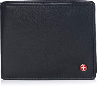 Alpine Swiss Men's RFID Mathias Wallet Deluxe Capacity Passcase Bifold With Divided Bill Section Camden Collection