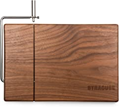 NCAA Syracuse Orange Meridian Black Walnut Cutting Board with Cheese Slicer