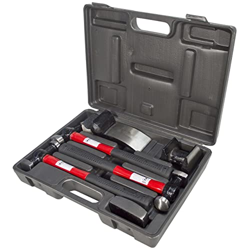 7 Pcs Panel Beating Hammers Car Auto Body Panel Repair Tool Kit Handles Beating Hammers Heel Dolly Car Repairing Tools 50% OFF Tools Hammer