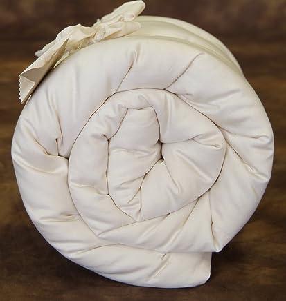 Holy Lamb Organics Quilted Wool Deep Sleep Mattress Topper - QUEEN