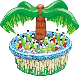 "28"" Inflatable Palm Tree Cooler, Beach Theme Party Décor, Party Supplies for Pool Party, Luau Party and Hawaiian Party"