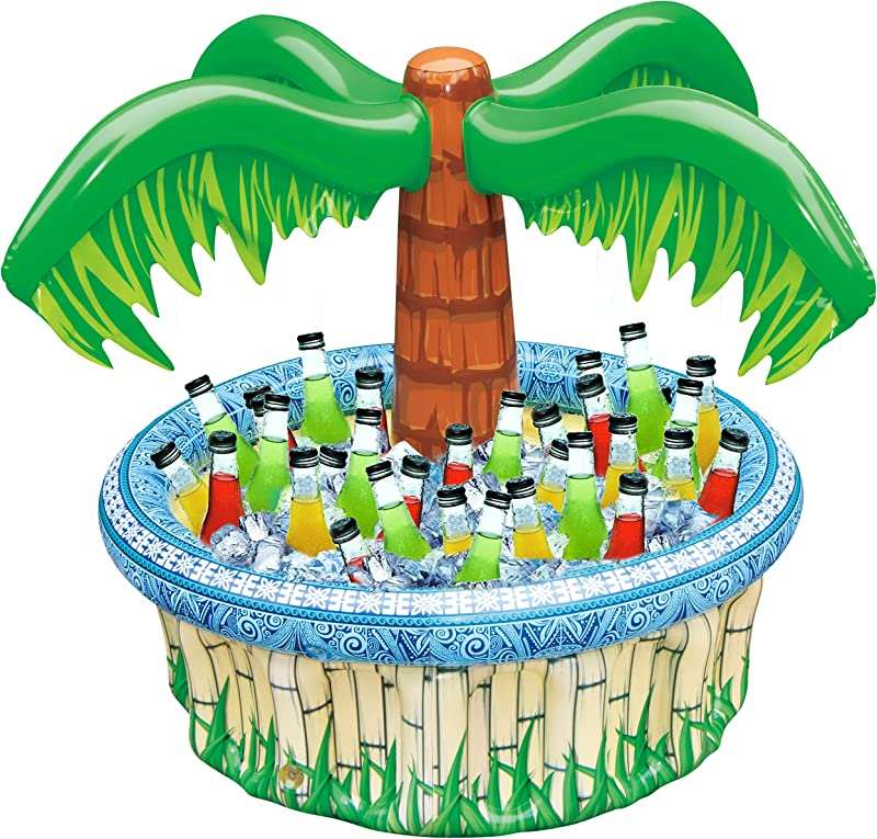 28 Inflatable Palm Tree Cooler Beach Theme Party D Cor Party Supplies For Pool Party Luau Party And Hawaiian Party