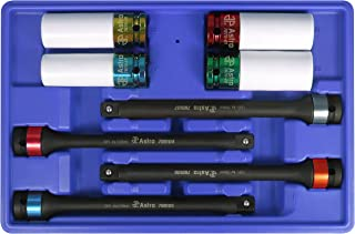 Astro Pneumatic Tool 78818 8-Piece Torque Limiting Extension And Protective Impact Socket Combo Set