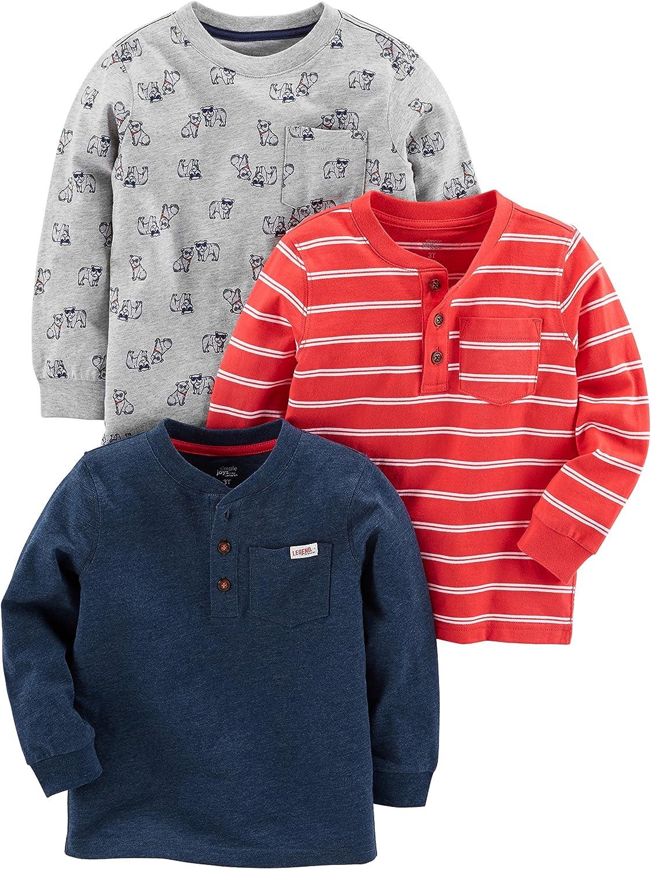Simple Joys by Carter's Boys' 3-Pack Long Sleeve Shirt