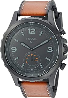 Fossil Men's Nate Stainless Steel Hybrid Smartwatch with Activity Tracking and Smartphone...