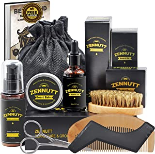 Ultimate Beard Care Kit for Men w/ Free Beard Conditioner & Beard Balm Butter &..