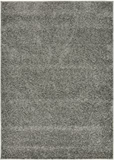 RugStylesOnline Shaggy Collection Solid Color Shag Area Rugs, Gray