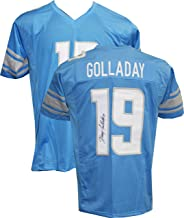 Authentic Kenny Golladay Signed Autographed Blue Custom Jersey - Detroit Lions WR