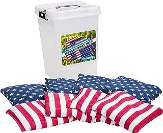 "Triumph Patriotic 8-Pack 6"" x 6"" 16 oz. Canvas Bean Bags"