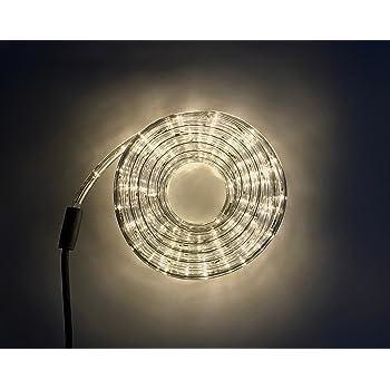 LED Lichtschlauch Lichterschlauch Leuchtschlauch 10m warmweiss mit 240 LED