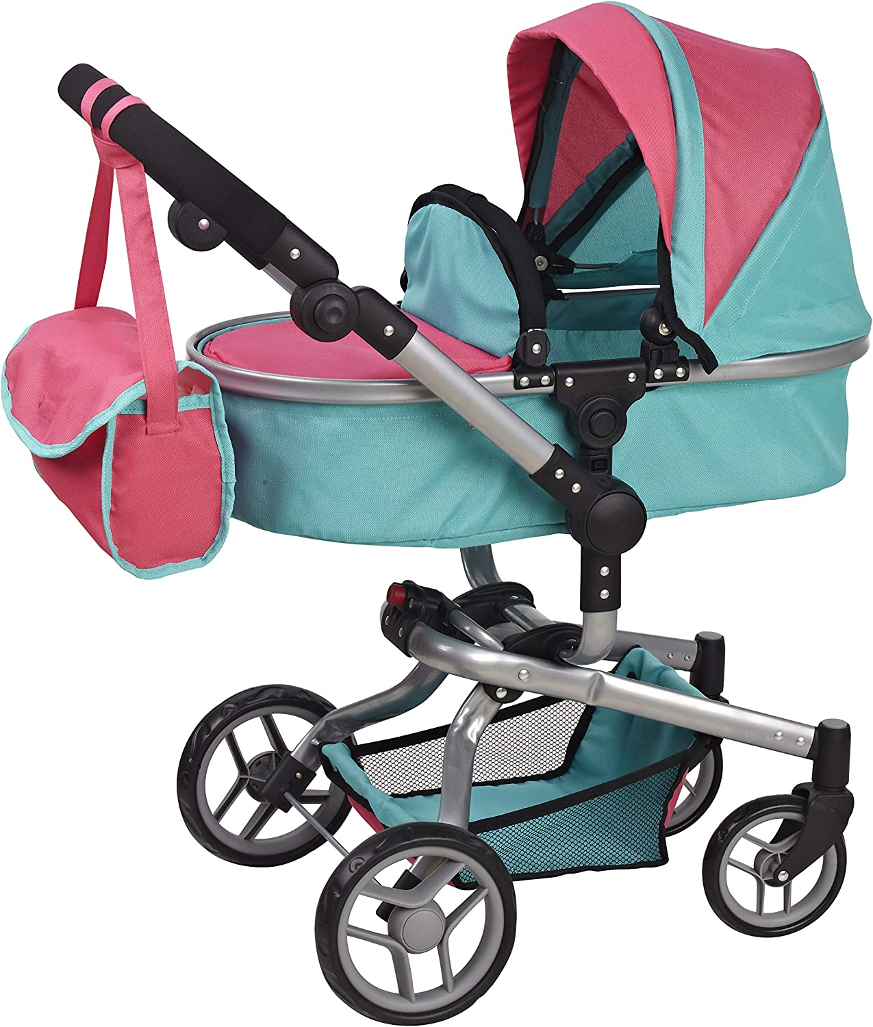 Deluxe 2 in 1 Doll Stroller Extra Tall 32'' High