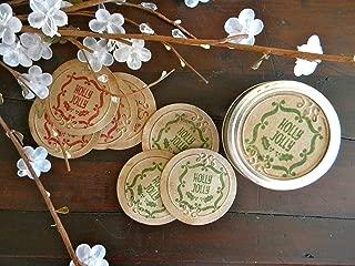 Mason Jar Labels, Holly Jolly, Christmas Gift Tags, Canning Jar Gift Tags, Christmas Jar Stickers, Holiday Labels
