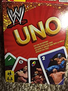 WWE Wrestling UNO Card Game (Packaging may vary)
