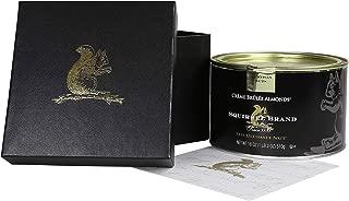 Squirrel Brand Artisan Nuts, Creme Brûlée Almonds, 18 oz Tin in Black Gift Box