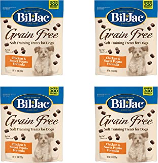 Bil Jac Grain Free Soft Training Treats for Dogs - Chicken and Sweet Potato Formula - 10 oz Packs