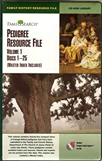Family Search Pedigree Resource File, Volume 1, Discs 1.25 (Master Index Included)