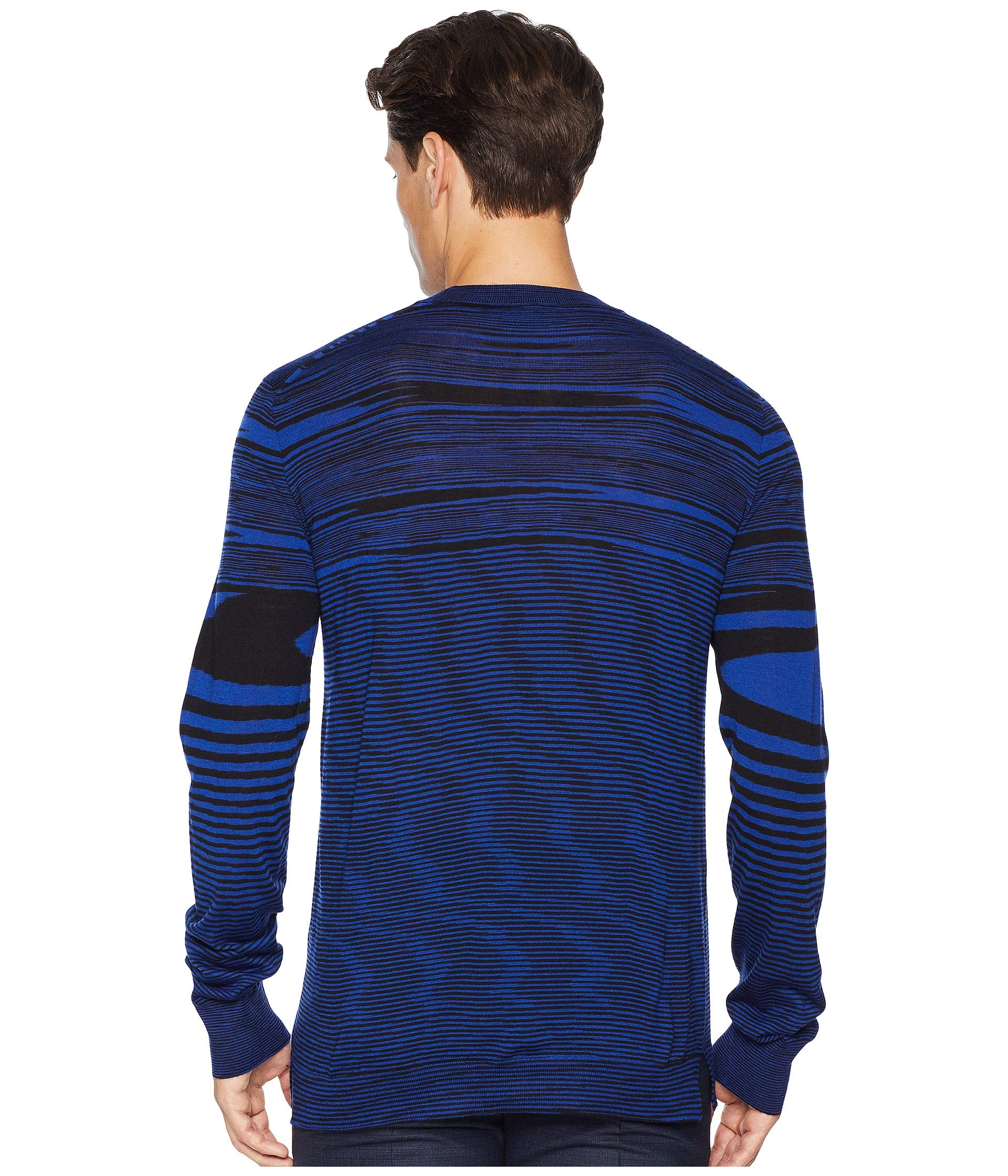 Blue Crew Neck Sweater Missoni Fiammato Club vUfw6qEXW