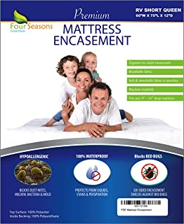 Four Seasons Essentials RV Short Queen Mattress Protector (60
