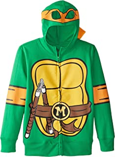 Nickelodeon Big Boys' Teenage Mutant Ninja Turtles Costume Hoodie, Shell Green, Large
