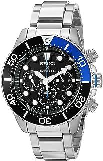 Seiko Men`s SSC017 Prospex Analog Japanese Quartz Solar Stainless Steel Dive Watch