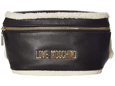 LOVE Moschino Stay Warm Fanny Pack (Fantasy Print Black/Ivory) Bags