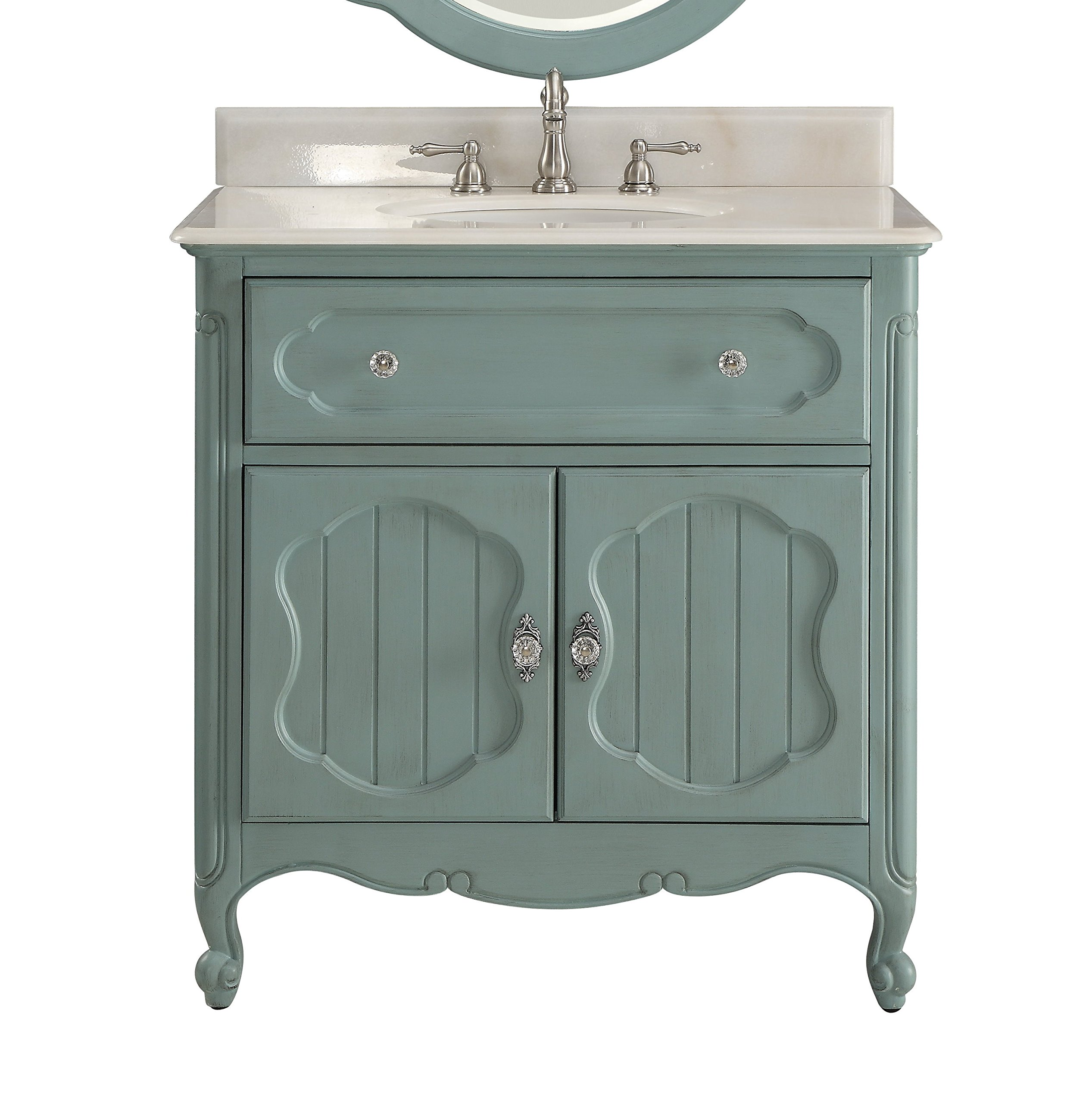 Amazon Com 34 Benton Collection Victorian Cottage Style Knoxville Bathroom Sink Vanity Model Gd 1533bu Kitchen Dining