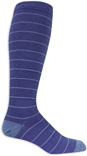 Dr. Scholl's Men's Fashion Compression Stripe 1 Pack Sock