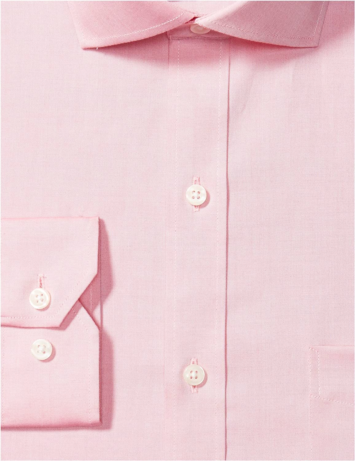 Buttoned Down Mens Tailored Fit Cutaway-Collar Solid Pinpoint Dress Shirt Supima Cotton Non-Iron Brand