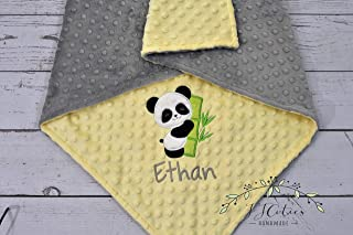 5958201a83 Personalized Baby Blanket-Panda baby blanket-Panda Minky blanket-Personalized  Minky Blanket-