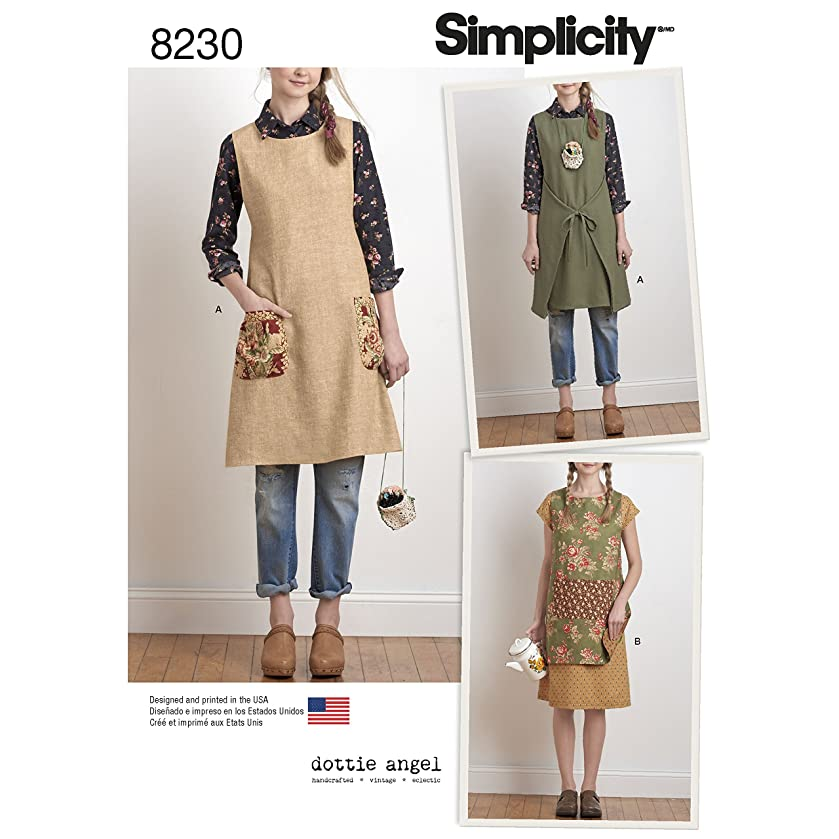 Simplicity Creative Patterns Simplicity Pattern 8230 Misses' Dottie Angel Reversible Apron Dress and Tabard