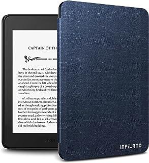 Infiland Kindle paperwhite 第10世代 ケース Kindle paperwhite カバー 薄型 超軽量 全保護スマートケース キンドル保護ケース自動スリープ(ネイビー)