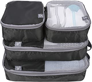 Travelon: Set of 4 - Soft Packing Organizers - Black