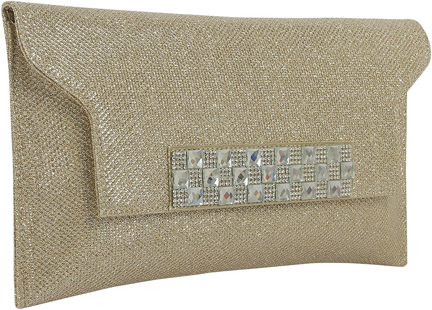 { Extra 10% Discount } Purse Collection Casual pink gold Indian Clutch Beautiful Decorated By Stone