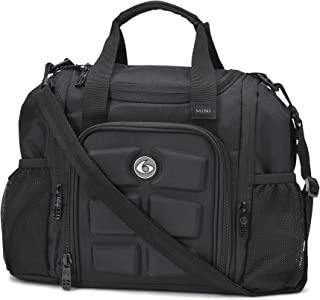 6 Pack Fitness Insulated Meal Prep Bag, Mini Innovator Stealth Black w/Bonus ZogoSportz Cyclone Shaker